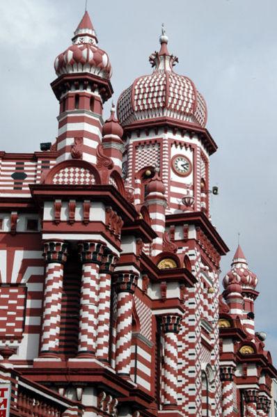 Jami Ul Alfar Mosque, Colombo, Sri Lanka