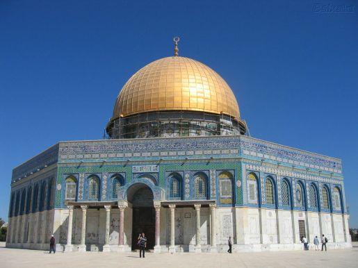 Qubba al Sakhrah and Al Aqsa Mosque , Jerusalem , Occupied  Palestine